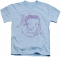 Betty Boop kids t-shirt Perfect Kiss light blue