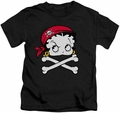 Betty Boop kids t-shirt Pirate charcoal