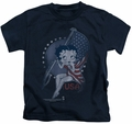 Betty Boop kids t-shirt Proud Betty navy