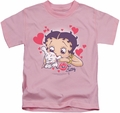 Betty Boop kids t-shirt Puppy Love pink