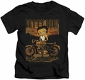 Betty Boop kids t-shirt Rebel Rider black