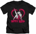 Betty Boop kids t-shirt Scrolling Hearts black