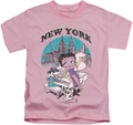 Betty Boop kids t-shirt Singing In NY pink