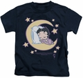 Betty Boop kids t-shirt Sleepy Time navy