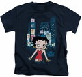Betty Boop kids t-shirt Square navy