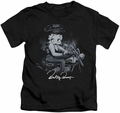 Betty Boop kids t-shirt Storm Rider black