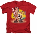 Betty Boop kids t-shirt Surf red