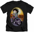 Betty Boop kids t-shirt Wild Biker black