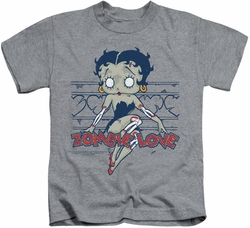 Betty Boop kids t-shirt Zombie Pinup athletic heather