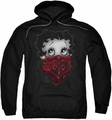 Betty Boop pull-over hoodie Bandana & Roses adult black