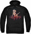 Betty Boop pull-over hoodie Betty's Back adult black
