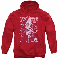 Betty Boop pull-over hoodie Boop Ball adult red