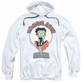 Betty Boop pull-over hoodie Breezy Zombie Love adult white