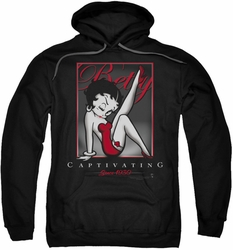 Betty Boop pull-over hoodie Captivating adult black