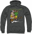 Betty Boop pull-over hoodie Chimney adult charcoal