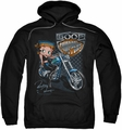 Betty Boop pull-over hoodie Choppers adult black