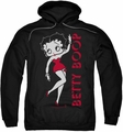 Betty Boop pull-over hoodie Classic adult black