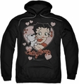 Betty Boop pull-over hoodie Classic Kiss adult black
