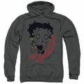 Betty Boop pull-over hoodie Classic Zombie adult charcoal