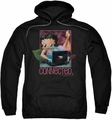 Betty Boop pull-over hoodie Connected adult black