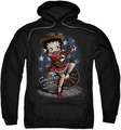 Betty Boop pull-over hoodie Country Star adult black
