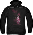 Betty Boop pull-over hoodie Cutie adult black