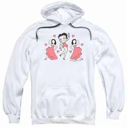 Betty Boop pull-over hoodie Dance adult white