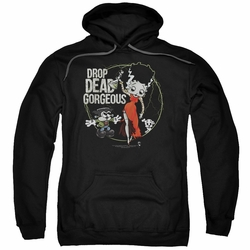 Betty Boop pull-over hoodie Drop Dead Gorgeous adult black