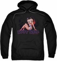 Betty Boop pull-over hoodie Glowing adult black