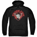Betty Boop pull-over hoodie Heart You Forever adult black