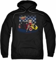 Betty Boop pull-over hoodie Hot Rod Boop adult black