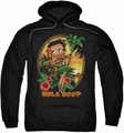Betty Boop pull-over hoodie Hula Boop II adult black