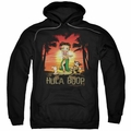 Betty Boop pull-over hoodie Hulaboop adult black
