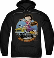 Betty Boop pull-over hoodie Keep On Boopin adult black