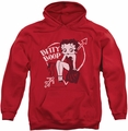 Betty Boop pull-over hoodie Lover Girl adult red