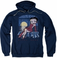 Betty Boop pull-over hoodie Moonlight adult navy