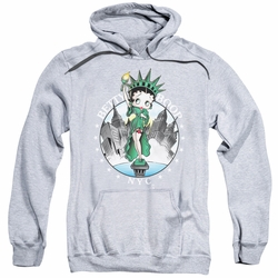 Betty Boop pull-over hoodie NYC adult athletic heather
