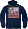 Betty Boop pull-over hoodie On Broadway adult navy