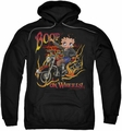 Betty Boop pull-over hoodie On Wheels adult black