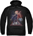Betty Boop pull-over hoodie Pop Star adult black