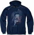 Betty Boop pull-over hoodie Proud Betty adult navy