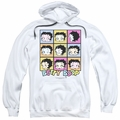 Betty Boop pull-over hoodie She's Got The Look adult white