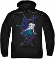 Betty Boop pull-over hoodie Sparkle Fairy adult black