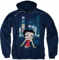 Betty Boop pull-over hoodie Square adult navy