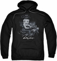 Betty Boop pull-over hoodie Storm Rider adult black