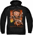 Betty Boop pull-over hoodie Sunset Rider adult black