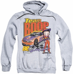 Betty Boop pull-over hoodie Team Boop adult athletic heather