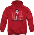 Betty Boop pull-over hoodie Timeless Beauty adult red