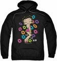 Betty Boop pull-over hoodie Tripple XO adult black