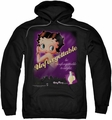 Betty Boop pull-over hoodie Unforgettable adult black